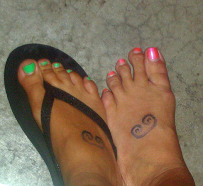 to mother and daughter Samantha and Maria who say they got these tattoos